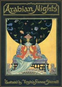 Virginia Frances Sterrett illustrated Penn Publishing Company's 1928 edition of Arabian Nights.