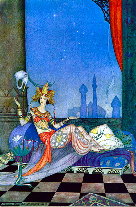 Scheherazade Went On With Her Story By Virginia Frances Sterrett The Arabian Nights