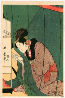 Utamaro Reading